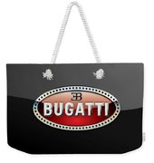 Bugatti - 3 D Badge On Black Weekender Tote Bag