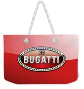 Bugatti - 3 D Badge On Red Weekender Tote Bag