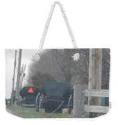 Buggies Parked At The Edge Of The Road Weekender Tote Bag
