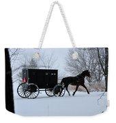 Buggy On Winter Road Weekender Tote Bag
