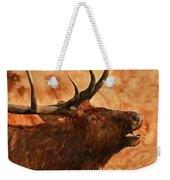 Bugling Bull Elk Autumn Background Weekender Tote Bag