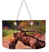 Bugling Elk In Autumn Weekender Tote Bag