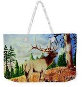 Bugling Elk Weekender Tote Bag