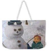 Building A Snowman  Weekender Tote Bag