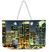 Building At Night With Lights Weekender Tote Bag