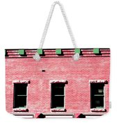 Building In Red And Green Weekender Tote Bag