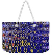 Building Of Circles And Waves Colored Yellow And Blue Weekender Tote Bag
