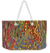 Building Of Circles And Waves Colored Yellow Red And Blue Weekender Tote Bag