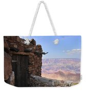 Building On The Grand Canyon Ridge Weekender Tote Bag