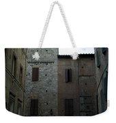 Buildings On A Side Street In Siena Weekender Tote Bag