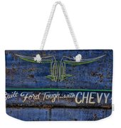 Built Ford Tough With Chevy Stuff Weekender Tote Bag