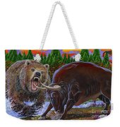 Bull And Bear Weekender Tote Bag