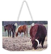Bull And Horses, Mt. Vernon Weekender Tote Bag