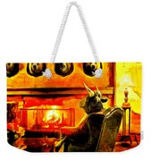 Bull At Night Weekender Tote Bag