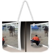 Bull Challenge - Gently Cross Your Eyes And Focus On The Middle Image Weekender Tote Bag