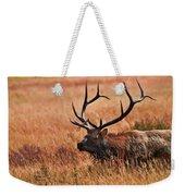 Bull Elk In A Field Weekender Tote Bag
