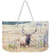 Bull Elk In The Rain Weekender Tote Bag
