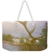 Bull Elk Profile Weekender Tote Bag