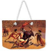Bull Fight In Mexico 1889 Weekender Tote Bag