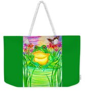 Bull Frog And The Moon Weekender Tote Bag