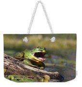 Bull Frog Weekender Tote Bag
