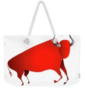 Bull Looks Like Cave Painting Weekender Tote Bag by Michal Boubin