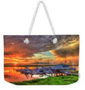 Bull River Marina Sunrise 2 Sunrise Art Weekender Tote Bag
