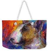 Bull Terrier Dog Painting Weekender Tote Bag