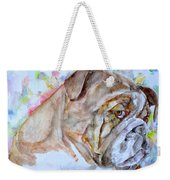 Bulldog - Watercolor Portrait.7 Weekender Tote Bag