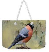 Bullfinch Bird Weekender Tote Bag