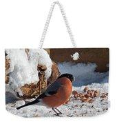 Bullfinch In The Snow Weekender Tote Bag