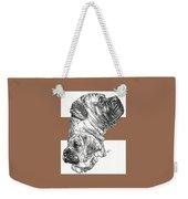 Bullmastiff And Pup Weekender Tote Bag