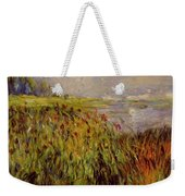Bulrushes On The Banks Of The Seine 1874 Weekender Tote Bag
