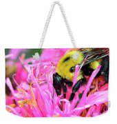 Bumble Bee And Flower Weekender Tote Bag