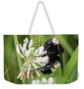 Bumble Bee By The Pond Weekender Tote Bag