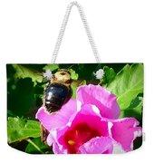 Bumble Bee Flying To Flower Weekender Tote Bag