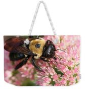 Bumble Bee Macro Weekender Tote Bag