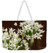 Bumble Bee On Wild Onion Flower Weekender Tote Bag