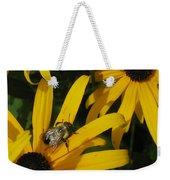 Bumble Bee Sitting On Black-eyed Susan Weekender Tote Bag