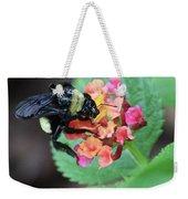 Bumble Bee Square Weekender Tote Bag