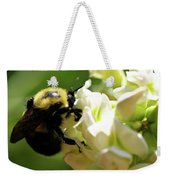 Bumble Bee Weekender Tote Bag by Valeria Donaldson