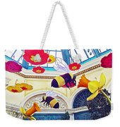 Bumble Bees And Poppies In Bellagio Conservatory In Las Vegas-nevada Weekender Tote Bag