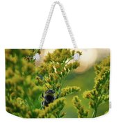 Bumblebee And Canadian Goldenrod 15 Weekender Tote Bag