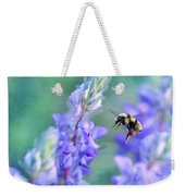 Bumblebee And Lupine Weekender Tote Bag