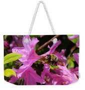 Bumblebee In Azalea Weekender Tote Bag