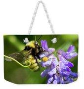 Bumblebee On A Blue Giant Hyssop Weekender Tote Bag