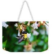 Bumblebee On Abelia Weekender Tote Bag