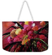 Bunch Of Red Flowers Weekender Tote Bag