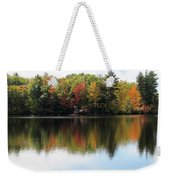 Bunganut Lake Maine Foliage 11 2016 Weekender Tote Bag
