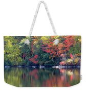 Bunganut Lake Maine Foliage 13 2016 Weekender Tote Bag